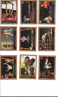 2015 Topps Wwe Road To Wrestlemania 110-Card Complete Bronze Parallel Set