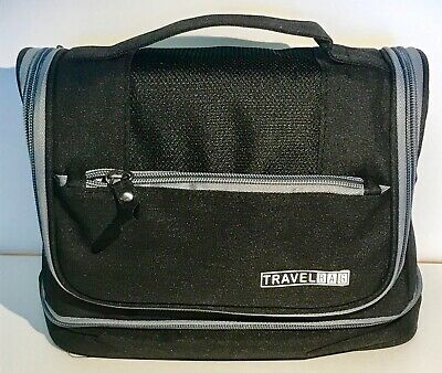 Unisex Waterproof Hanging Travel Toiletry Bag - Black