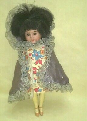 Antique Bisque Head Composition Body Asian Cabinet Sized Doll A/o $99.99
