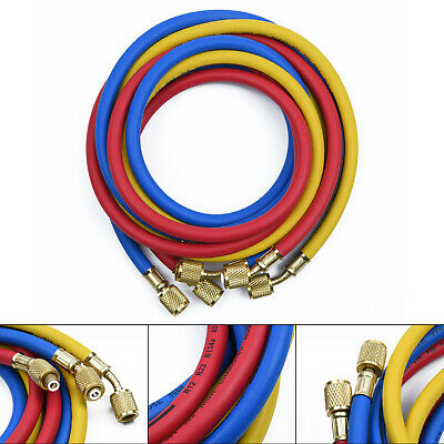 1.5M R134a R22 R404 502 Air Conditioner Manifold Gauge 5FT Hose High Quality I1