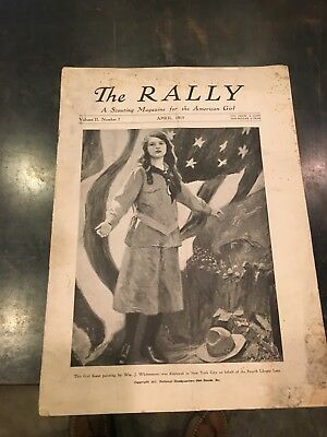 """Rare Early Girl Scout Magazine """"The Rally Dated April 1919"""