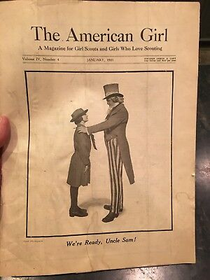 """Rare Early Girl Scout Magazine """"The American Girl 1921"""""""