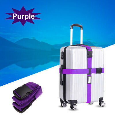 Travel Luggage Suitcase Bag Packing Secure Safe Strap Belt Password Lock
