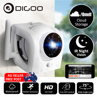 DIGOO WiFi IP Camera Waterproof Night Wireless/wired Network Home Security Cam