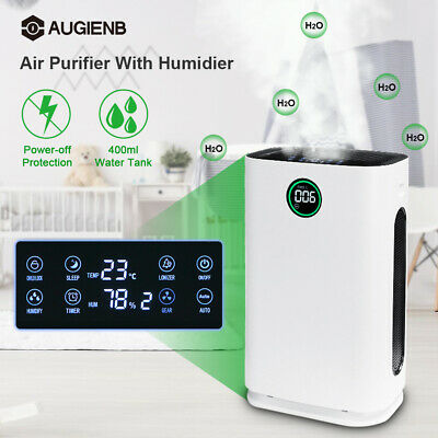 AU AUGIENB HEPA Filter Air Purifier 6-Layer Humidifier Ionizer Freshener Cleaner