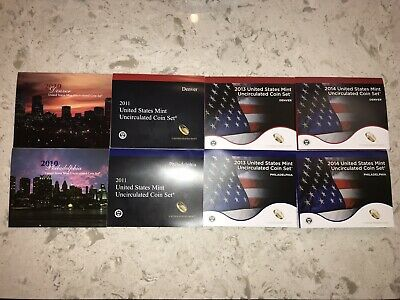 2010,2011,2013,2014 United Stated Mint Uncirculated Coin Set Denver Philadelphia