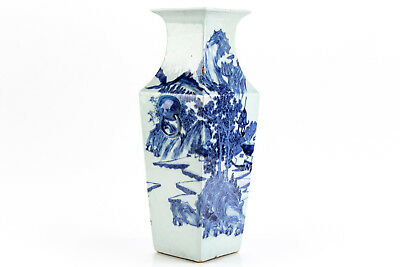 A Large Chinese Qing Dynasty Daoguang Period Blue and White Vase.