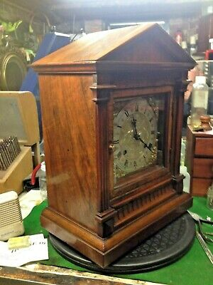 M  B Geman Ting Tang Bracket Clock...... Walnut Case