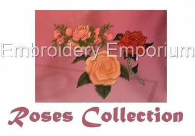 Roses Collection - Machine Embroidery Designs On Cd Or Usb