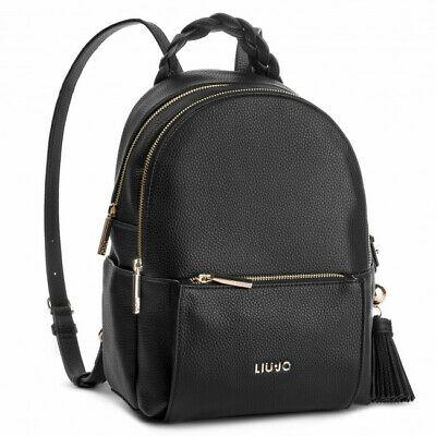 b4aee841d3 Borsa Liu Jo Zaino Arizona N19264 Bag Backpack Nero Black E Oro Gold 2 Zip  2019