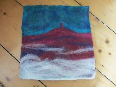 Felted Wool Picture Morning Mist Glastonbury Tor Jennie Loader Stunning Mounted