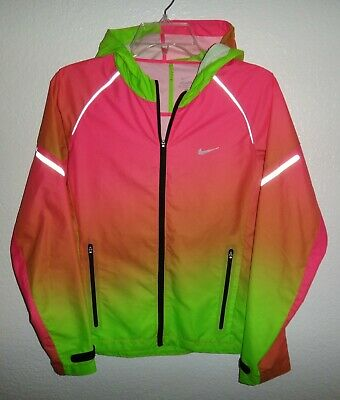 f94196e71bb9 New Womens M Nike Colorful Full Zip Running Athletic Windbreaker Jacket Rare