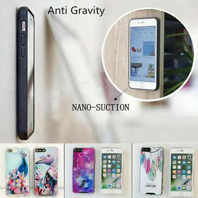 For iPhone XS Max XR X 8 7 6s 6 Plus Magic Sticky Anti Gravity Hybrid Case Cover