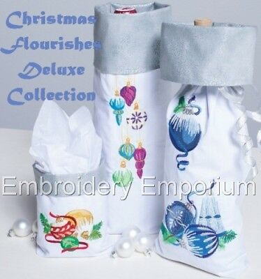 Christmas Flourishes Deluxe Collection - Machine Embroidery Designs On Cd Or Usb