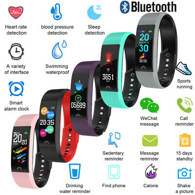 Bluetooth Smart Watch Sport Activity Tracker Fit Android iOS Heart Rate Monitor