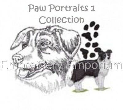 Paw Portraits 1 Collection - Machine Embroidery Designs On Cd Or Usb