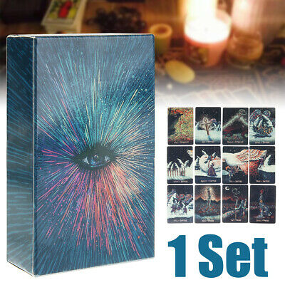 78pcs Tarot Cards Deck Silver Plating Divination Tarot Board Game Kits Set
