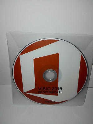 Dvd - Office Visio 2016 Professional - 32/64 Bit Full - Italiano (Microsoft)