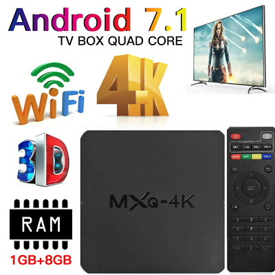 2019 Ultra 4K MXQ Pro Quad Core Android TV Box HD Sports 3D Media Player ACE