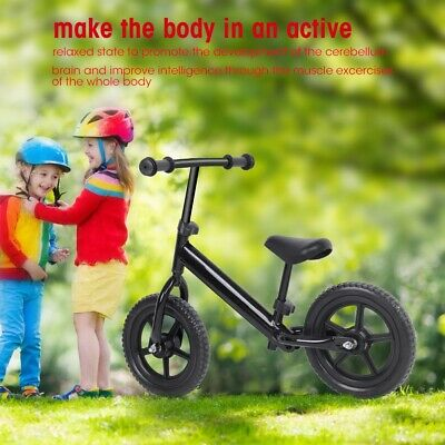 AU Balance Bike Child No Pedal Scooter Training Bicycle Kids Toy Beginner Black