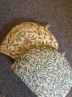 2 William Morris Willow Bough Green / Fruit Minor Design Tea Cosies
