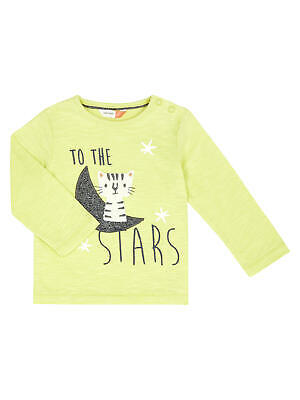 John Lewis Baby Moon & Cat Top / Lime 0-3 Months Brand New With Tags Free P&P
