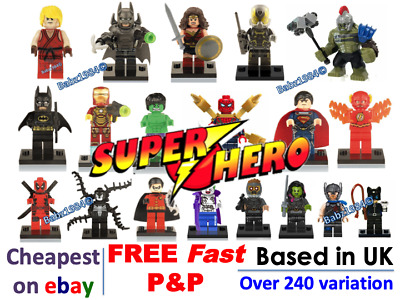 Minifigures Super Hero Mini figures Marvel - FREE  LEGO BRICK- Gift UK Superhero