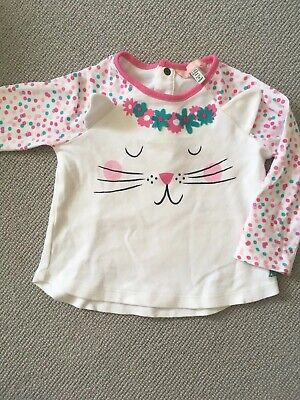 Joules Baby Girls Cat Flower Top 9-12 Months