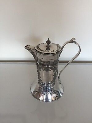 "Lovely Victorian Silver Plated Hot Water/Coffee Pot 8""  X 7"" (Spwp 10P) J D & S"