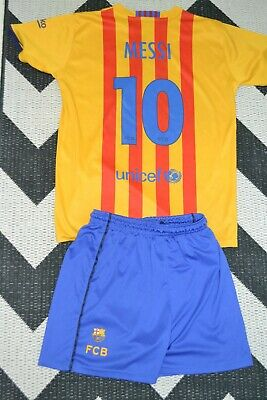 sports shoes 04782 c4d45 MESSI BARCELONA AWAY Kit 2015/2016 Youth Size 13-14 Year Pique Suarez  Coutinho