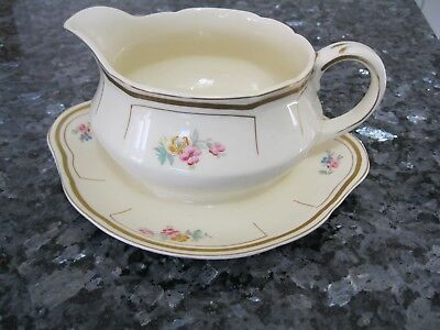 Gravy Boat/Sauce Boat &Attached Underplate Vintage Alfred Meakin Royal Marigold
