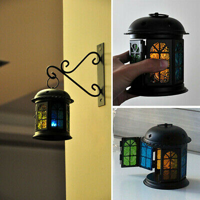 Decorative Lantern Candle Holder Bird Cage Iron Candlestick Home Ornament 6A