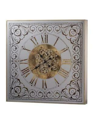 Square Framed 3D Wall Clock With Moving 3D Mechanism (The Otto)