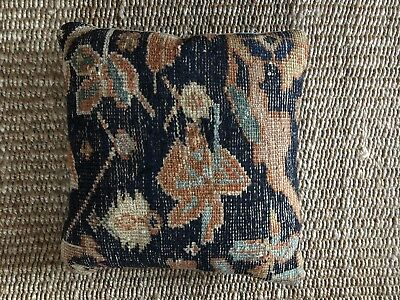 Old Antique Caucasian Tribal Rug Wool Pillow