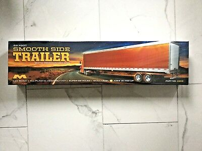 Moebius 1/25 53' Great Dane Smooth Side Trailer W/ Refeer Option # 1303 New F/s