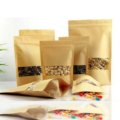 100pcs/pack Small Kraft Paper Candy Treat Favor Gift Bag Vintage Wedding Bags