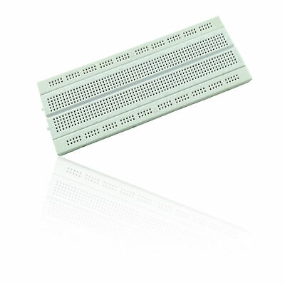 840 Pin Solderless Prototyping Breadboard for use with Rasperry Pi - WHITE