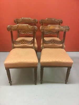 Antique William IV Mahogany Dining Chairs Sn-p