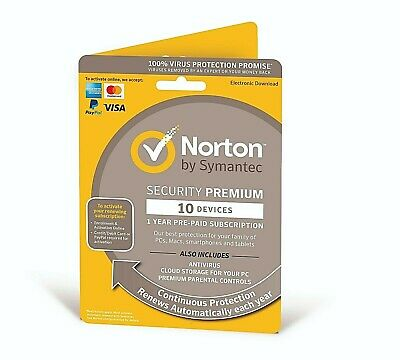Norton Security Premium 2019 10 Devices + 25GB Backup 1 Year - Delivery by Email