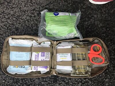 Catastrophic Bleed Control First Aid Trauma Kit IFAK Inc Celox, MAT Tourniquet