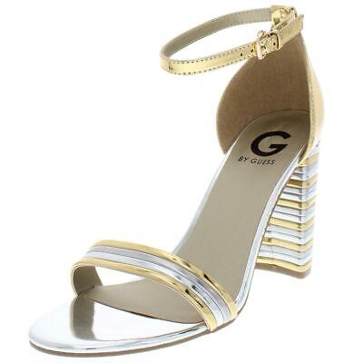 G by Guess Womens Lesha Faux Leather T-Strap Flat Sandals Shoes BHFO 5291