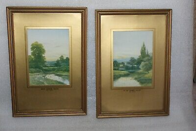 GEORGE OYSTON (1861 - 1937) PAIR IN THE THAMES VALLEY & Nr CHINNOR BUCKS PRINTS