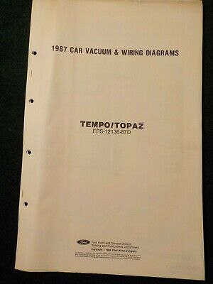 1987 ford tempo & mercury topaz electrical schematic wiring diagram manual