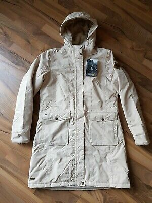 Regatta ladies isotex 5000 fully insulated long coat size 14 in warm beige