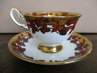 Gorgeous Royal Chelsea  Bone China Tea Cup Teacup & Saucer England No Reserve