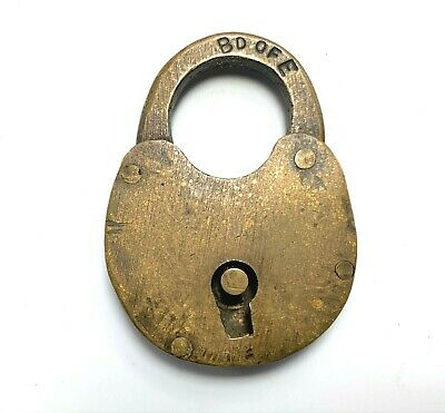 Antique Padlock Board Of Elections Stamped Bd OF E Chicago Lock Rare Vintage