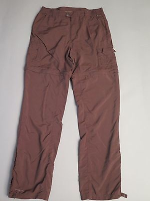 Womens Columbia Titanium Convertible Nylon Pants Shorts Brown Medium Long Ml