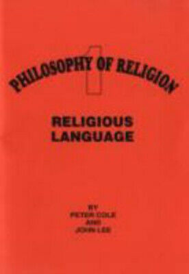 NEW Religious Language By Peter Cole Paperback Free Shipping