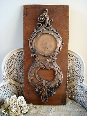 Large French Clock Wooden Architectural Salvage Display Piece ****awesome****