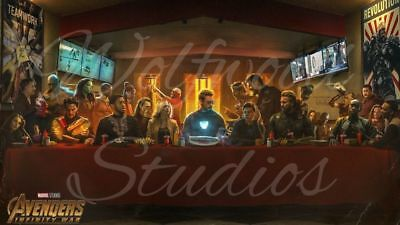 Marvel The Last Supper The Avengers Iron Man Thor Hulk Strange Publicity Photo